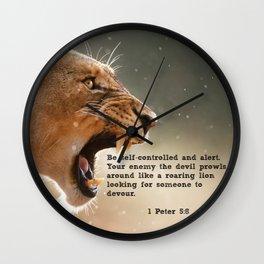 1 Peter 5:8 Wall Clock