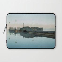 Cazenovia Lake On A Misty Morning Laptop Sleeve