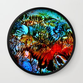 Colorful Underwater Plants Wall Clock