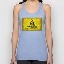 Gadsden Don't Tread On Me Flag - Worn Grungy Unisex Tank Top