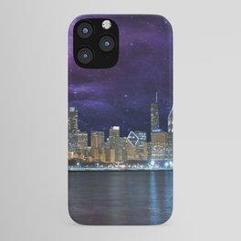 Spacey Chicago Skyline iPhone Case