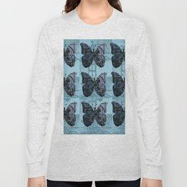 High Tech Butterflies (blue) Long Sleeve T-shirt