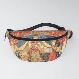 Lady and The Unicorn Medieval Tapestry Fanny Pack