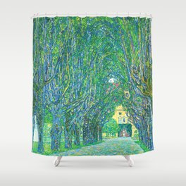 Gustav Klimt - Allee im Park von Schloss Kammer (new editing) Shower Curtain