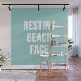 Resting Beach Face Wall Mural