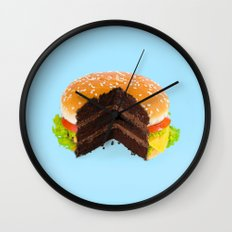 HAMBURGER CAKE Wall Clock