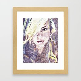 Billie Piper Color Pencil Drawing Framed Art Print