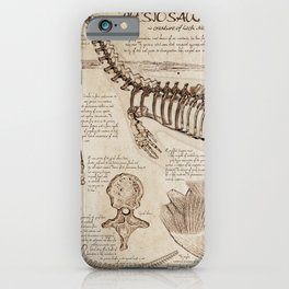 """Loch Ness Monster: """"The Living Plesiosaurus"""" - The lost notebook account iPhone Case"""
