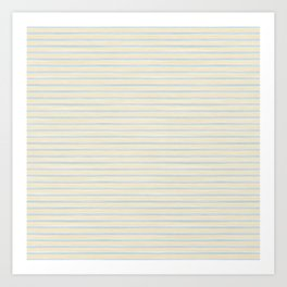 Striped Yellow Blue Scrapbook Sherbert Art Print