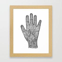 Pisces Hand / Hamsa Framed Art Print