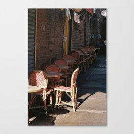 Café On The Corner Canvas Print