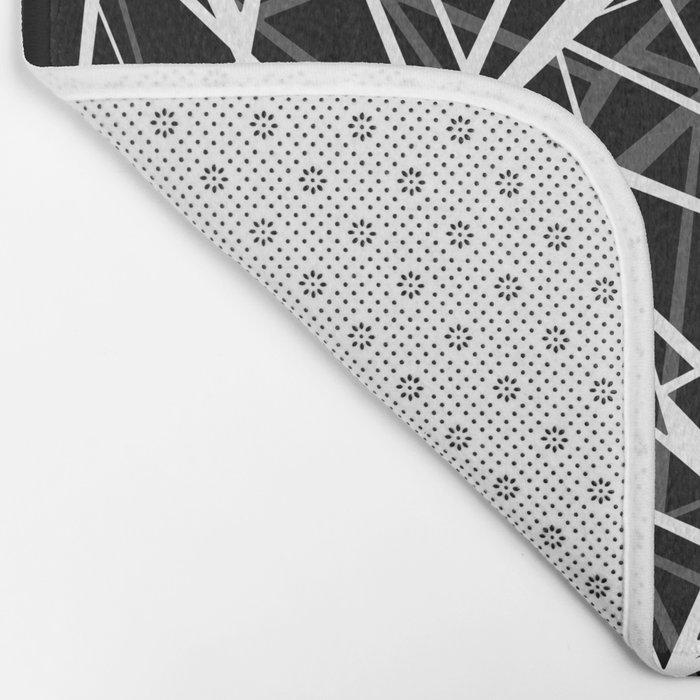 Black and white abstract geometric pattern . 8 Bath Mat