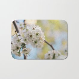 Pear Blossoms in spring. Bath Mat