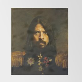 Dave Grohl - replaceface Throw Blanket