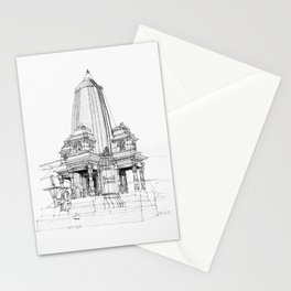 Traditional temple  in Kathmandu Stationery Cards
