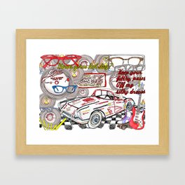 Keep your filthy paws of my silky draws Framed Art Print
