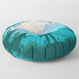 Breath of Warrior Floor Pillow