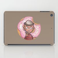 doughnut iPad Cases featuring Freddy Doughnut by ajd.abelita