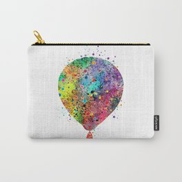 Hot Air Balloon Art Gift Colorful Watercolor Art Vintage Hot Air Balloon Decor Carry-All Pouch
