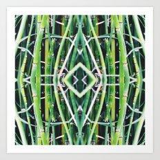 50 Shades of Green (6) Art Print