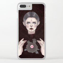 Bloody Vlad Clear iPhone Case