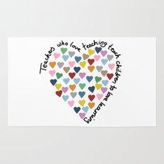 Hearts Heart Teacher Rug