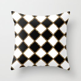 Geometric ornament gold seamless pattern Throw Pillow