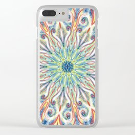 Colorful Center Swirl Clear iPhone Case