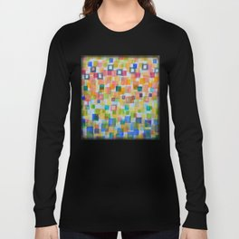 Light Squares and Frames Pattern Long Sleeve T-shirt