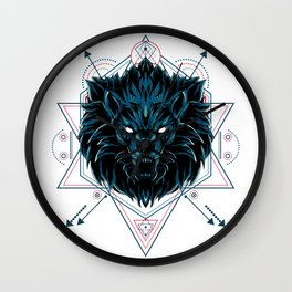 The Wild Lion sacred geometry Wall Clock