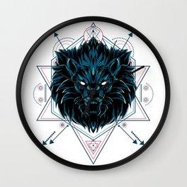 The Wild Lion sacred geometry Wall Clock