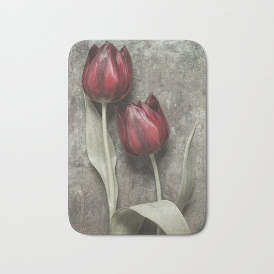 Red Tulips II Bath Mat