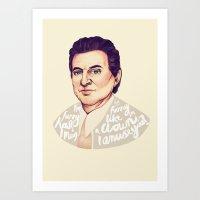goodfellas Art Prints featuring Goodfellas - Joe Pesci by Ella Betts