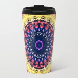Colorful Flower Mandala Travel Mug