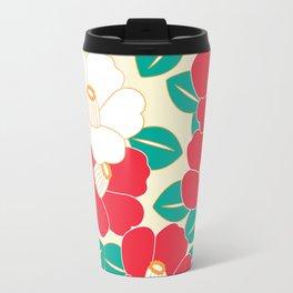 Japanese Style Camellia - Red and White Travel Mug