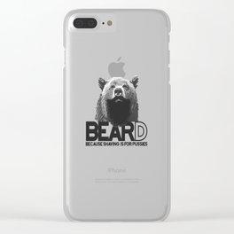 Bear and beard Clear iPhone Case