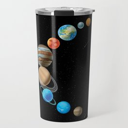 Solar System In Sickle Shape Travel Mug