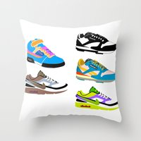 90s Throw Pillows featuring CLASSIC 90s by misha zaccour