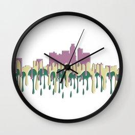 Los Angeles, California Skyline - PCG Wall Clock