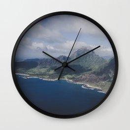 Islands in the Sea - Kauai, Hawaii Wall Clock