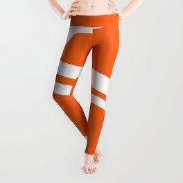 Mid Century In Burnt Orange Leggings