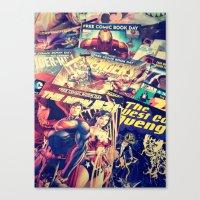 comics Canvas Prints featuring Comics by Miss-Lys