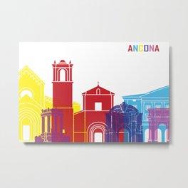 Ancona skyline pop Metal Print