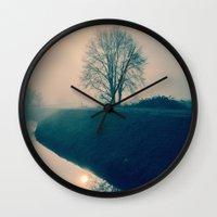 buddhism Wall Clocks featuring Experience by Schwebewesen • Romina Lutz