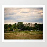 Bodiam Castle From Bodiam Station Art Print