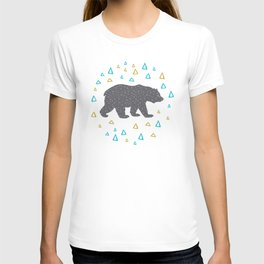 Forrest Animal Bear Print T-shirt