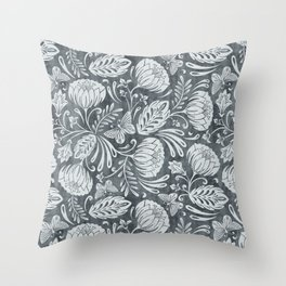 Arabella - Steel Throw Pillow