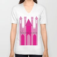 fairytale V-neck T-shirts featuring fairytale by Danielle J Design