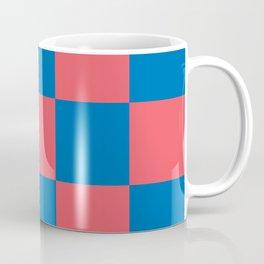 retro classic blue-and-red plaid Liderc Coffee Mug