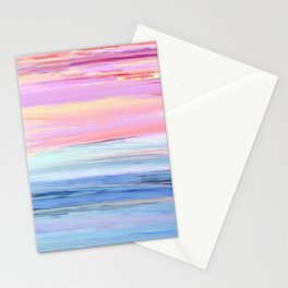 Pastel Ocean Sunset Abstract Stationery Cards